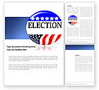 America: USA Elections Word Template #03595