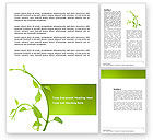 Nature & Environment: New Life Word Template #03598