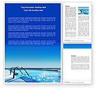 Careers/Industry: Swimming Pool Word Template #03599