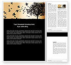 Nature & Environment: Falling Leaves Word Template #03603