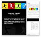 Sports: Baseball Bat Hit Word Template #03612