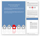 Construction: Typical House Of Suburban Icon Word Template #03620