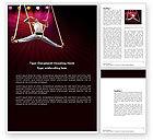 Art & Entertainment: Circus Gymnast Word Template #03626