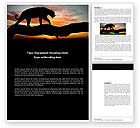 Agriculture and Animals: Panther Word Template #03629
