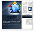 Global: 五大洲Word模板 #03637