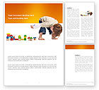 Education & Training: Child Games Word Template #03642
