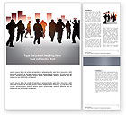 Business Concepts: City People Word Template #03644
