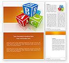 Education & Training: ABC Bricks Word Template #03660