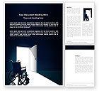 Medical: 워드 템플릿 - 바퀴 달린 의자 #03665