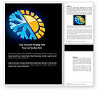 Nature & Environment: Free Weather News Word Template #03673