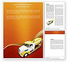 Cars/Transportation: Betonmischer Word Vorlage #03679