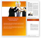 Business Concepts: Global Partnership Word Template #03682
