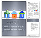 Construction: Houses Word Template #03686