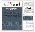 Education & Training: School Word Word Template #03693