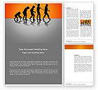 Education & Training: Human Evolution Word Template #03694