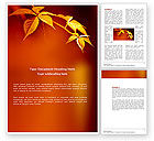 Nature & Environment: Yellow Leaves On A Yellow Stick Word Template #03697