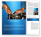Utilities/Industrial: Plantilla de Word - motor #03698