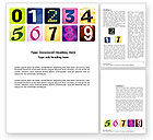 Education & Training: Colored Numbers Word Template #03705