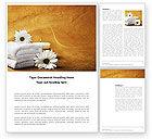 Careers/Industry: Bath Towels Word Template #03713