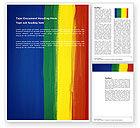 Abstract/Textures: Plantilla de Word - varios colores de pintura #03714