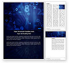 Education & Training: Blue Numbers Word Template #03718
