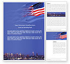 America: Patriot Day Word Template #03725