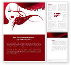 Careers/Industry: Glamour Girl Word Template #03744