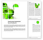 Abstract/Textures: Green Balls Word Template #03761