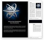 3D: Plantilla de Word - modelo atom #03763