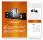 Business Concepts: Winner Place Word Template #03765