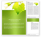 Agriculture and Animals: Green Flora Word Template #03769