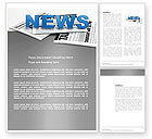 Careers/Industry: Newspaper Word Template #03778