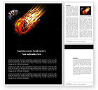 Technology, Science & Computers: Free Comet Word Template #03783