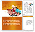 Education & Training: Long Distance Computer Education Word Template #03793