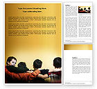 Business Concepts: Friendship Between Boys Word Template #03805