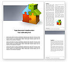 Construction: Immobilienfinanzierung puzzle Word Vorlage #03823