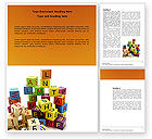 Education & Training: Toy Bricks Word Template #03824