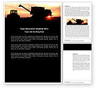 Agriculture and Animals: Combine Harvester Word Template #03836