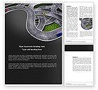 Cars/Transportation: Plantilla de Word - cruce de carreteras #03837