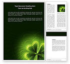 Abstract/Textures: Clover Theme Word Template #03858
