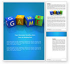 Education & Training: Game Word Template #03861