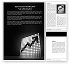 Financial/Accounting: Economy Rise Word Template #03866