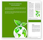 Nature & Environment: Green Planet Word Template #03867