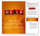 Business Concepts: Help Cubes Word Template #03869