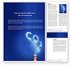 Nature & Environment: Carbonic Gas Word Template #03874