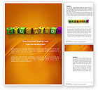 Education & Training: Visual Education Word Template #03875