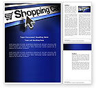 Business: e-Shopping Cart Word Template #03878