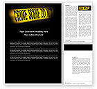 Legal: Crime Scene Word Template #03883