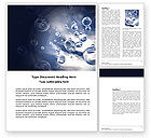 Nature & Environment: Bubbles Word Template #03897