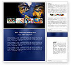 Education & Training: Childrens Of the World Word Template #03901